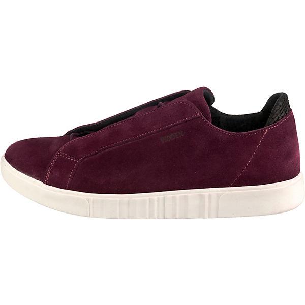 Suede Linda Low bordeaux Sneakers WODEN q1PR5wF5