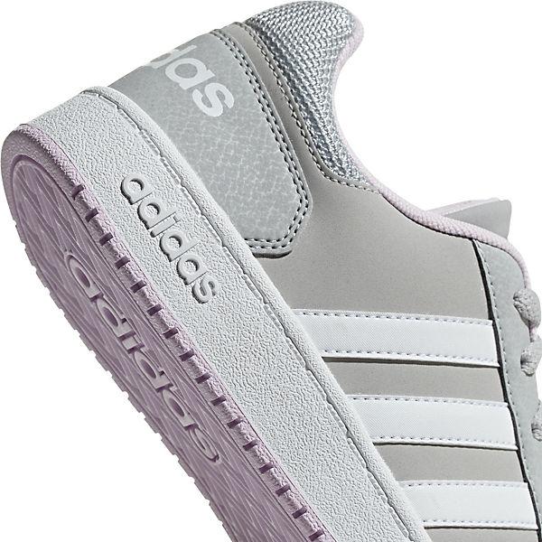 K HOOPS 0 Sport Mädchen für hellgrau adidas Inspired 2 Sneakers BCgfnnqxY