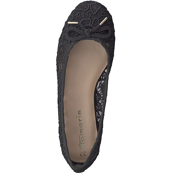 Tamaris Klassische Ballerinas schwarz Modell 2