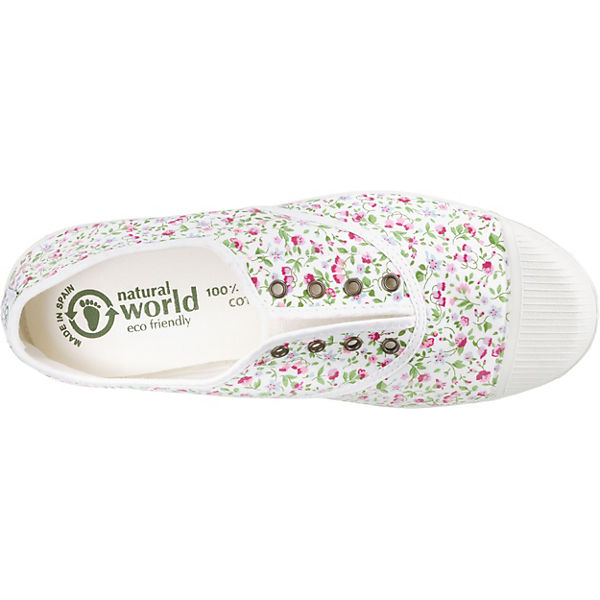 natural world weiß Liberty Ingles Klassische Tintado Slipper rrdqC4zw