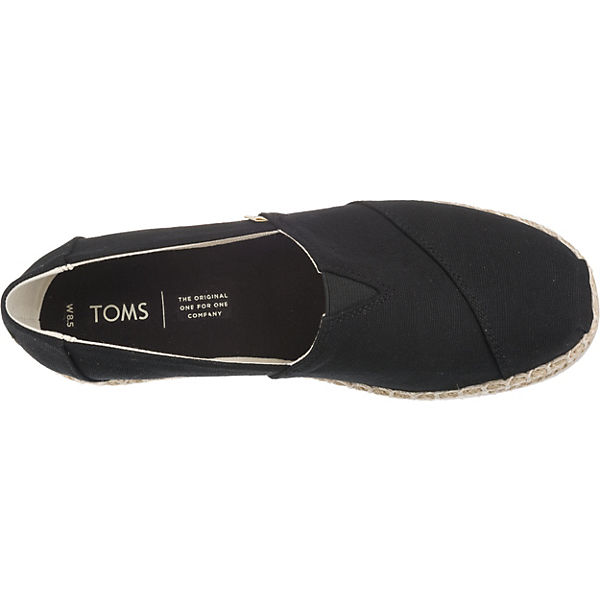 TOMS TOMS Platform Alpargata Espadrilles schwarz