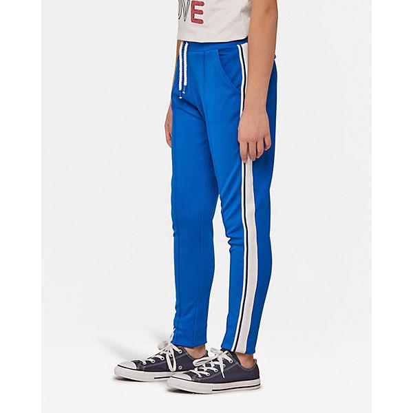 für Jogginghose JOGSTER Mädchen WE Galonstreifen blau Fashion mit EXFZxxnBq