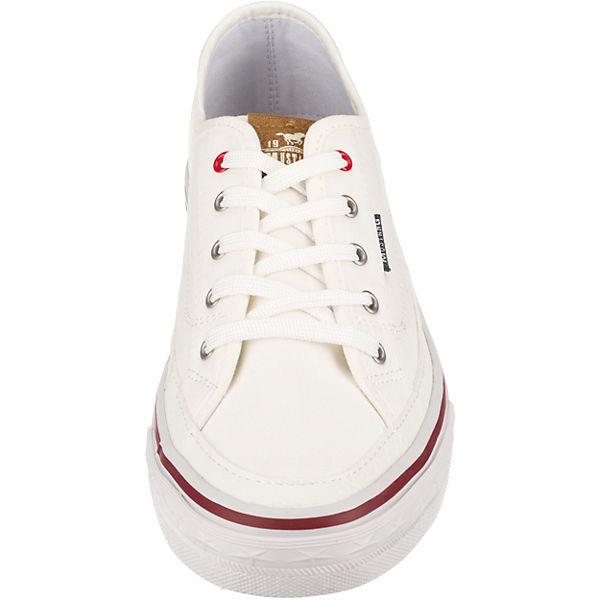 MUSTANG Sneakers Low weiß