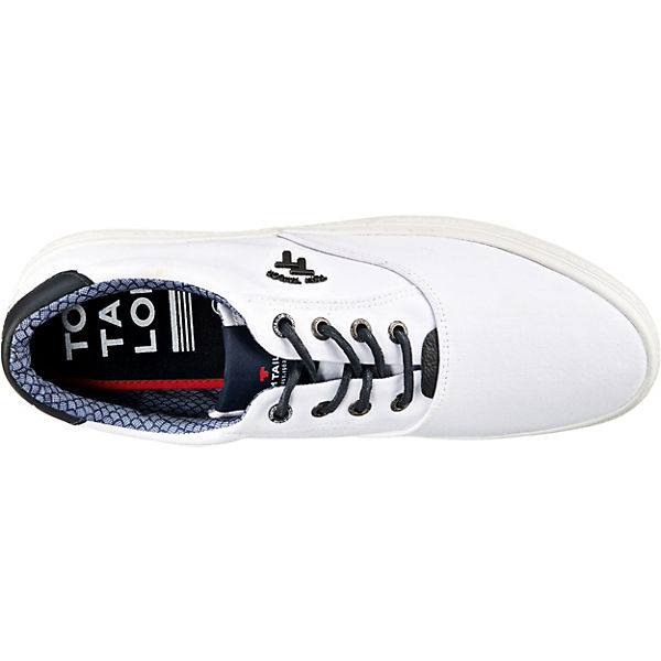 TOM TAILOR Sneakers Low weiß-kombi