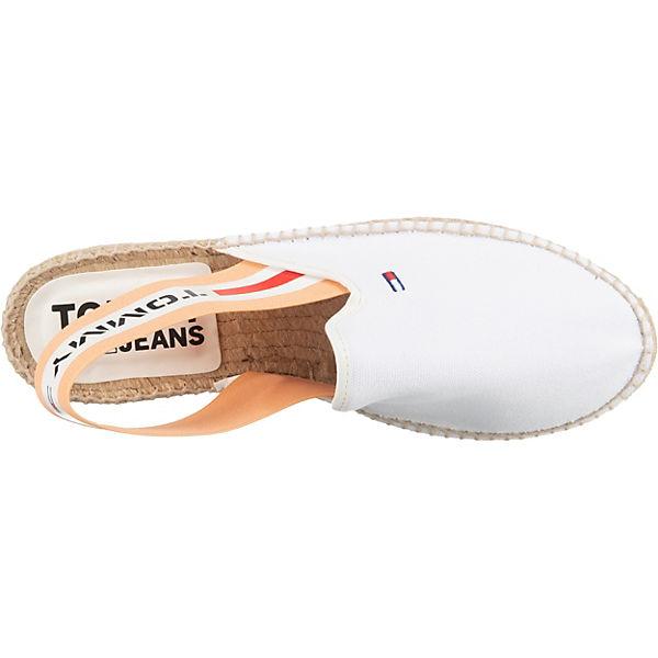 TOMMY JEANS Selia 5d1 Sling-Ballerinas weiß