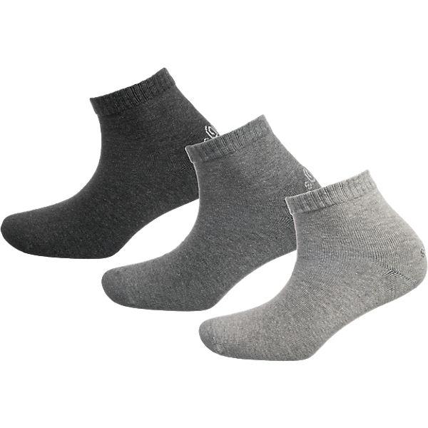 s.Oliver 3 Paar Socken grau