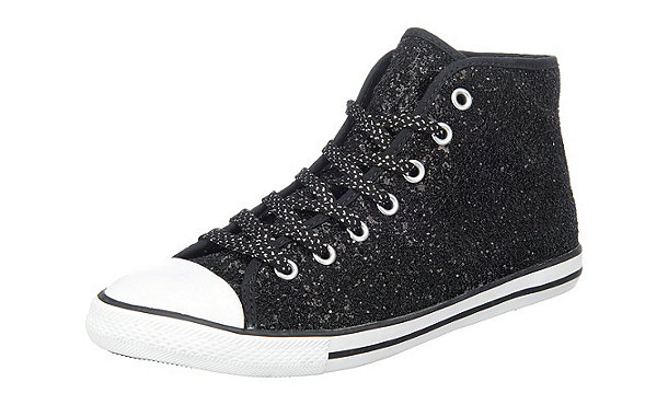 nwky3vi6 authentic converse chucks schwarz glitzer. Black Bedroom Furniture Sets. Home Design Ideas