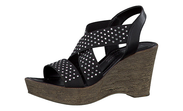marco tozzi sandaletten schwarz im shop von mirapodo mirapodo. Black Bedroom Furniture Sets. Home Design Ideas