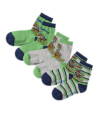 teenage mutant ninja turtles kinder socken 3er pack gr n kombi mirapodo. Black Bedroom Furniture Sets. Home Design Ideas