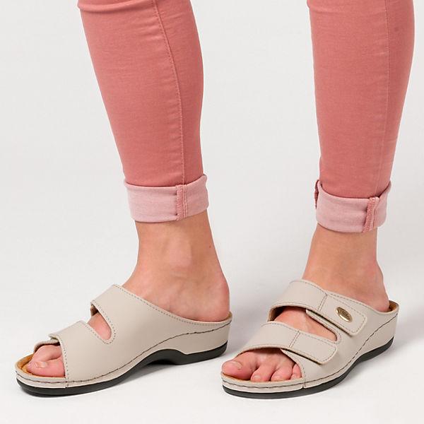 Franken-Schuhe Pantoletten beige
