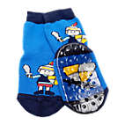 Socken Vollsohle für Jungen, Ritter blau/rot