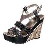 BULLBOXER Sandaletten schwarz-kombi