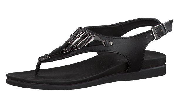 tamaris simona sandaletten schwarz im shop von mirapodo mirapodo. Black Bedroom Furniture Sets. Home Design Ideas