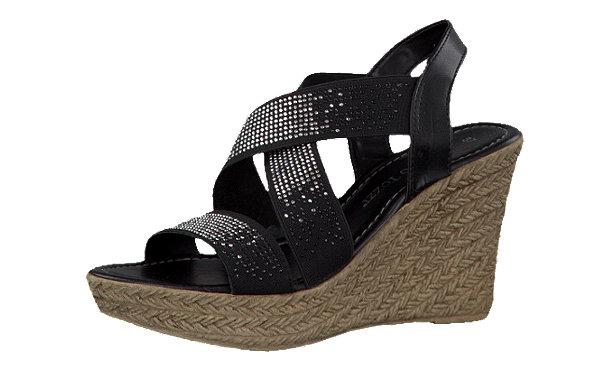marco tozzi niassa sandaletten schwarz im shop von mirapodo mirapodo. Black Bedroom Furniture Sets. Home Design Ideas