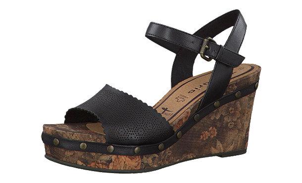 tamaris inex sandaletten schwarz im shop von mirapodo mirapodo. Black Bedroom Furniture Sets. Home Design Ideas