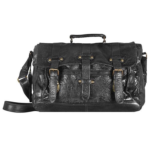 Billy the Kid Daytona Messenger Bag Leder 38 cm schwarz