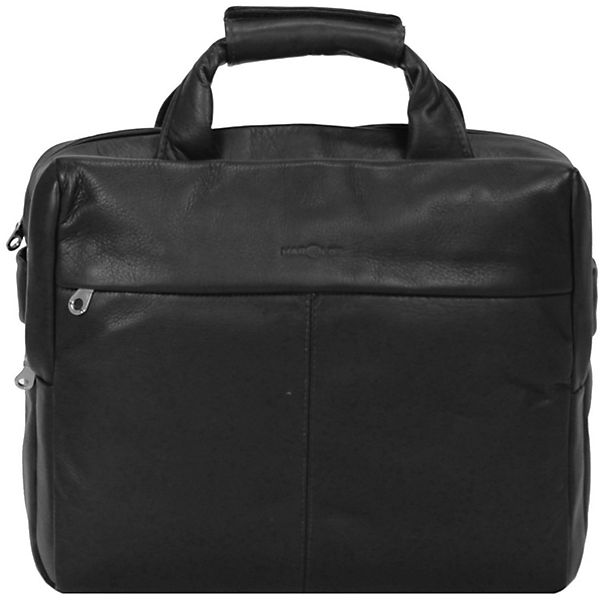 Harold's Country Aktentasche Leder 38 cm Laptopfach schwarz
