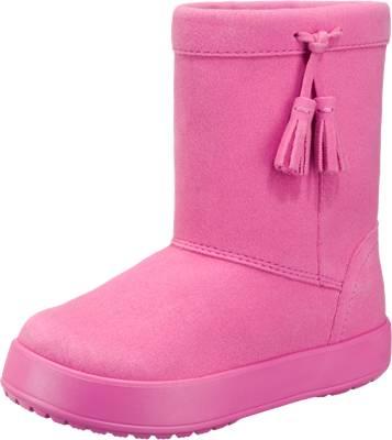 crocs kinder winterstiefel lodge point boot pink textil mirapodo. Black Bedroom Furniture Sets. Home Design Ideas