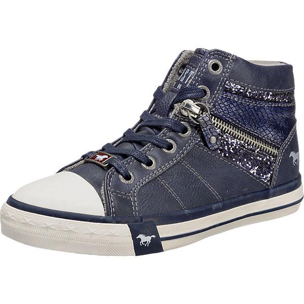 MUSTANG, Sneakers High für Mädchen, blau mirapodo