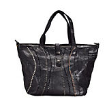 Campomaggi Sughero Shopper Tasche Leder 31 cm schwarz