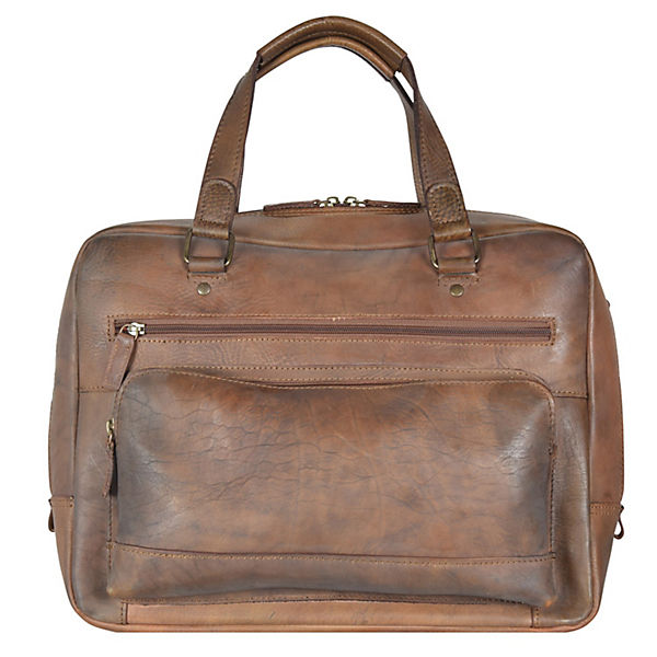 Jost Ranger Handtasche Leder 36 cm Laptopfach braun
