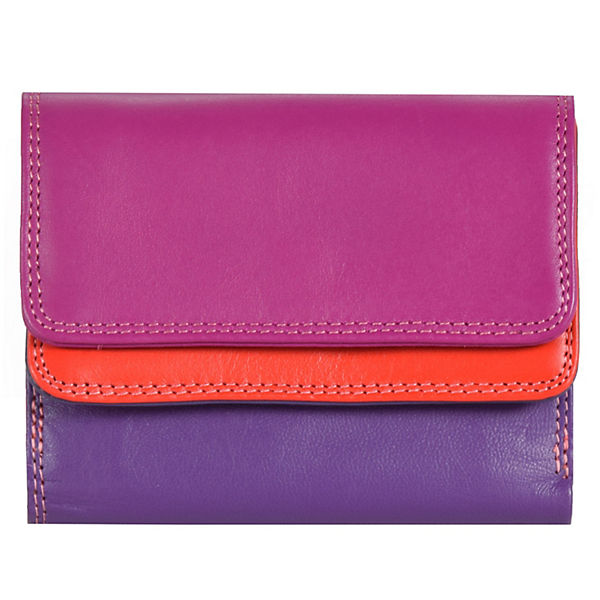 Mywalit Small Double Flap Wallet Geldbörse Leder 10 cm mehrfarbig
