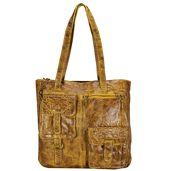 Billy the Kid Avery Schultertasche Leder 34 cm gelb