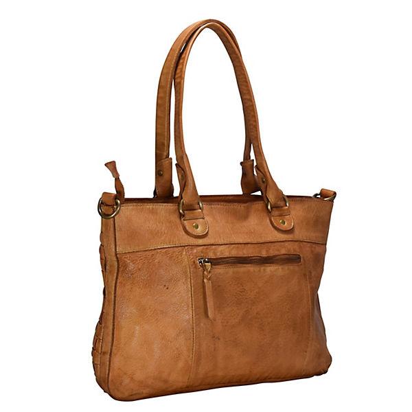 Greenland Femi & Nine Ladies Bag Handtasche Leder 42 cm braun