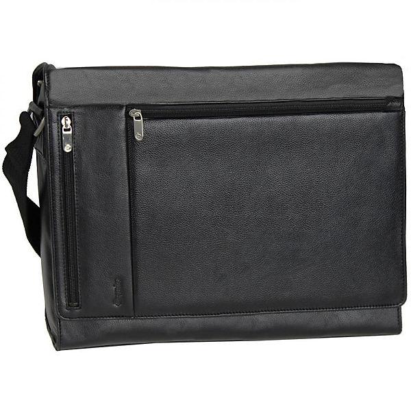 Esquire Courier Laptoptasche Leder 39 cm schwarz