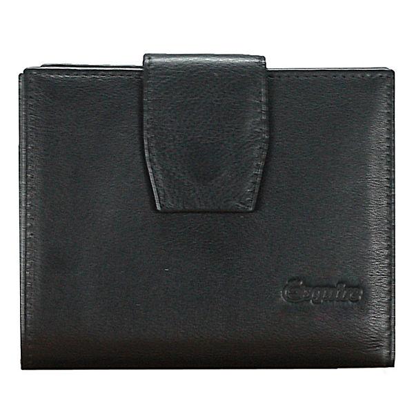 Esquire Silk Damengeldbörse Leder 12 cm schwarz