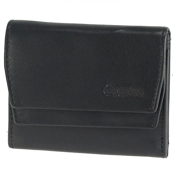 Esquire Silk Damengeldbörse Leder 10 cm schwarz