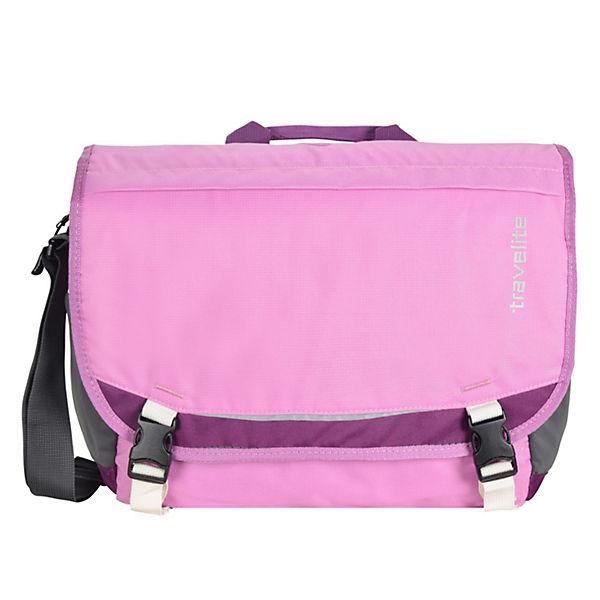 Travelite Basics Messenger Tasche 33 cm pink