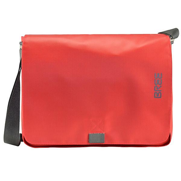 Bree Punch 49 Messenger Schultertasche 38 cm Laptopfach rot