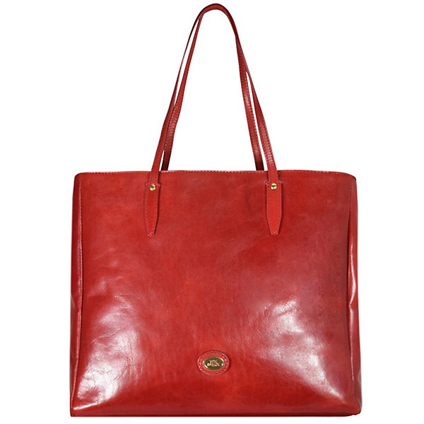 The Bridge Story Donna Shopper Tasche Leder 38 cm rot