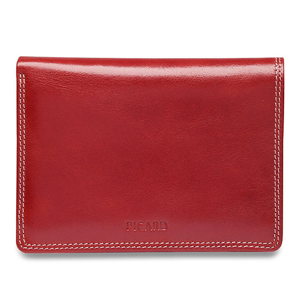 PICARD Porto Geldbörse Leder 10 cm rot