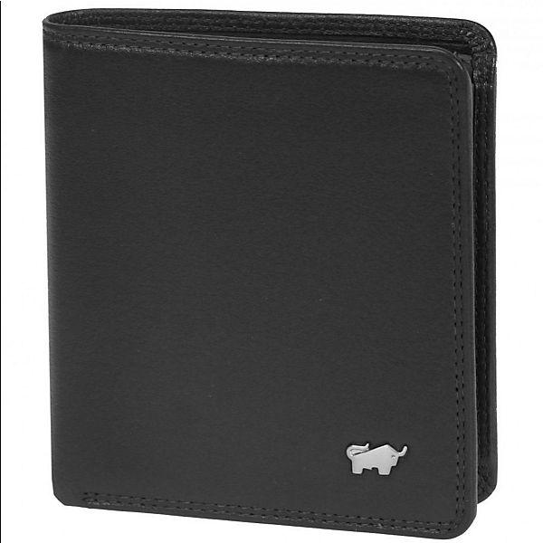 Braun Büffel Golf Geldbörse Leder 10 cm schwarz