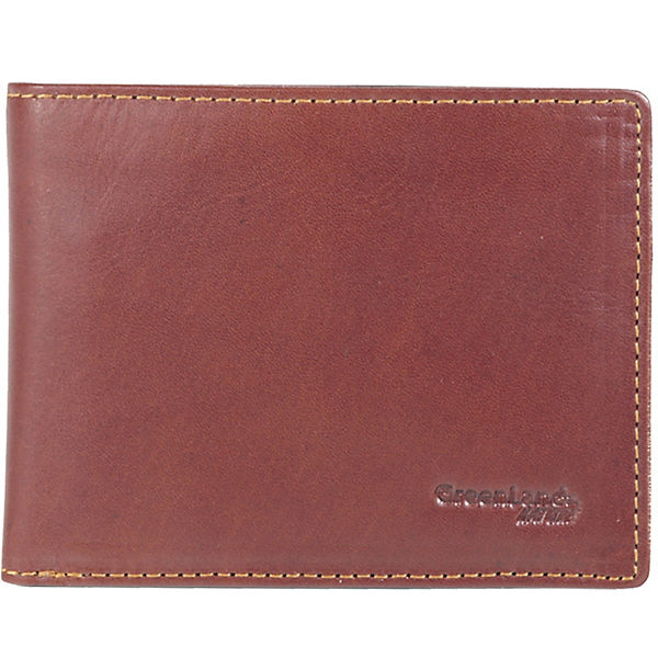 Greenland Rubin Geldbörse Leder 12,5 cm braun