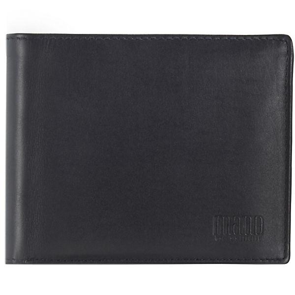 mano Planus Geldbörse Leder 12,2 cm schwarz