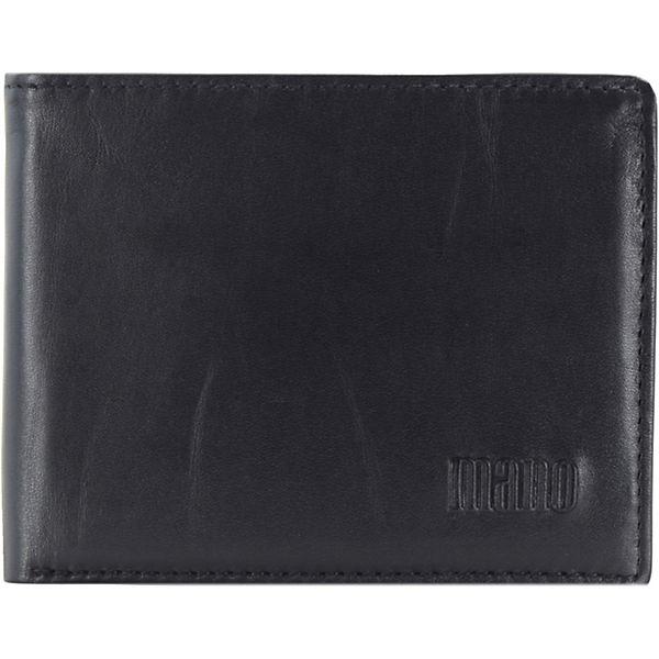 mano Planus Geldbörse Leder 10,5 cm schwarz