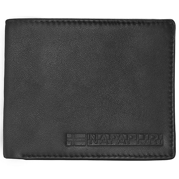 NAPAPIJRI Formal Billfold 10 Geldbörse Leder 12,5 cm schwarz