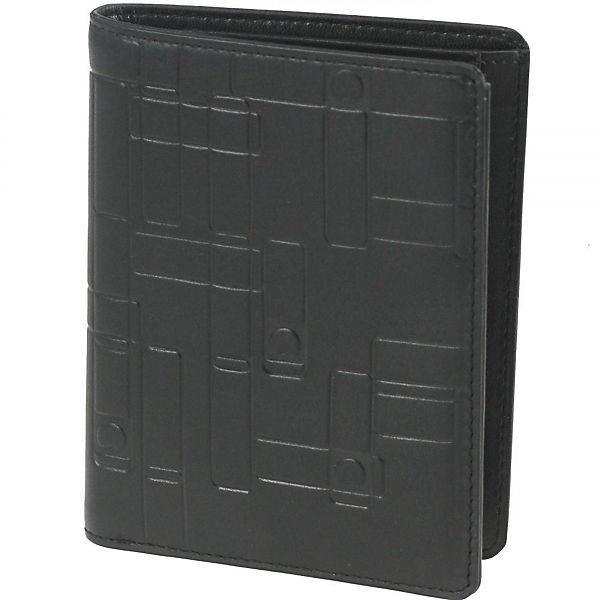 Delsey Echappée Geldbörse Leder 7,7 cm schwarz