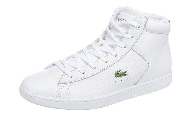 LACOSTE Carnaby Evo Mid Sneakers weiß im Shop von mirapodo ...