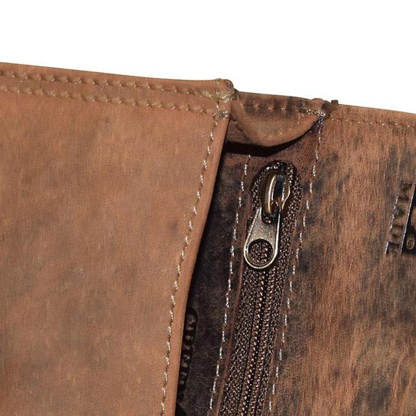 Greenburry Vintage Gürteltasche Leder 14,5 cm braun