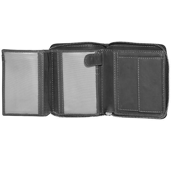 Greenburry Vintage Black Geldbörse Leder 10 cm schwarz