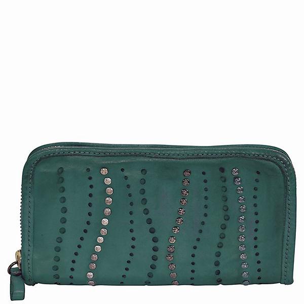 Campomaggi Sughero Geldbörse Leder 22 cm grün