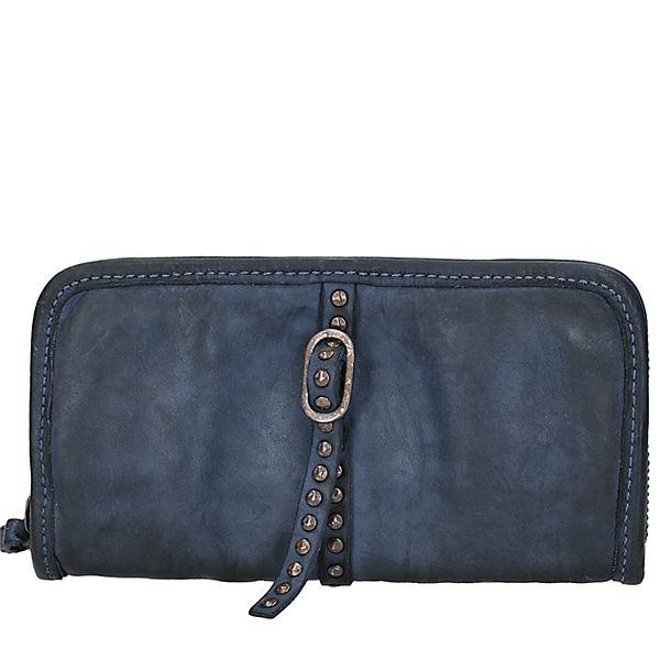 Campomaggi Azalea Geldbörse Leder 22 cm blau