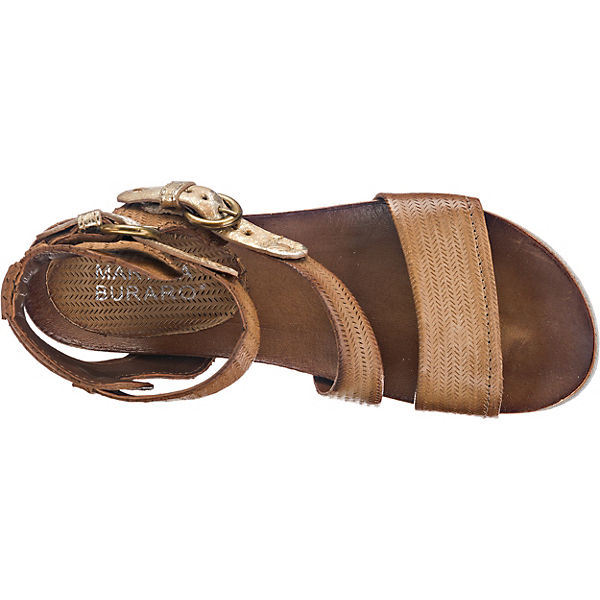 Martina Buraro Spak Sandaletten braun-kombi
