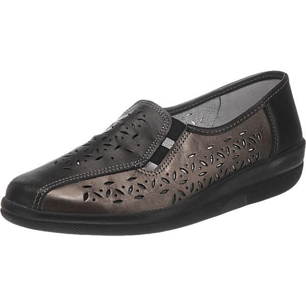 Franken-Schuhe Slipper schwarz-kombi