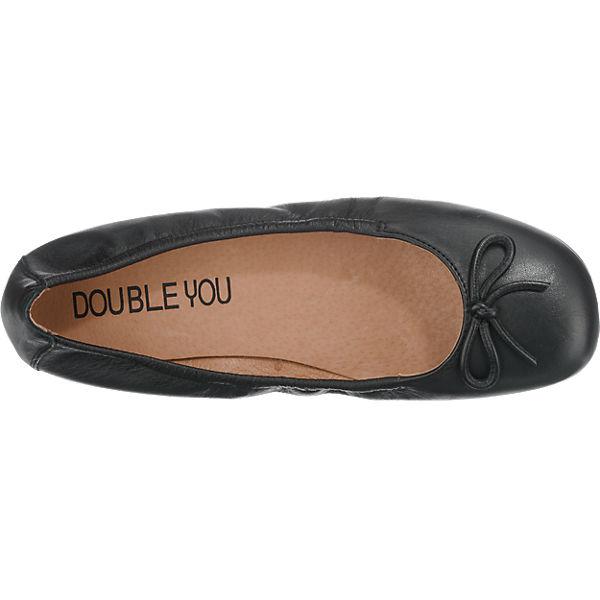 Double You Ballerinas schwarz