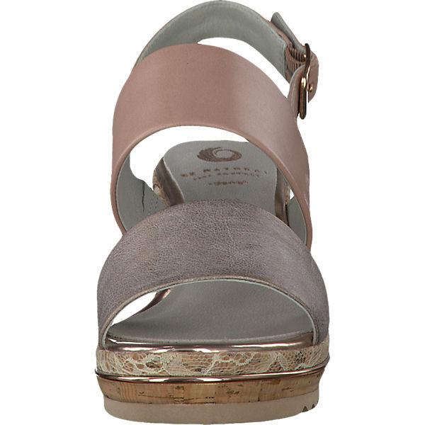 Be Natural Stuka Sandaletten rosa